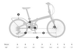"""Vikbar cykel Source 20"""". Ny modell 2016!"""